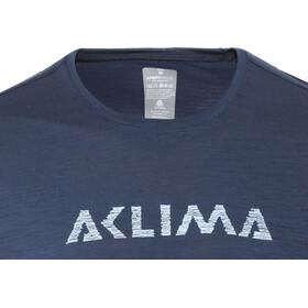 Aclima LightWool LOGO T-shirt Herre insignia blue